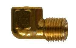 "3/8"" x 1/4"" 90 Degree Reducing Elbow Brass Pipe Fitting"